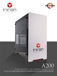 Titan A200 - AMD RYZEN 7 - Ultra Fast Workstation PC - up to 8 cores & 16 threads
