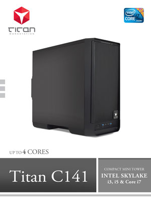 Titan C141 - Intel Core Kaby Lake Series Compact Mini Tower Workstation PC up to 4 cores