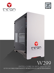Titan W299 - Intel Core i9 SkyLake Series 3D / CAD Workstation PC up to 18 Cores