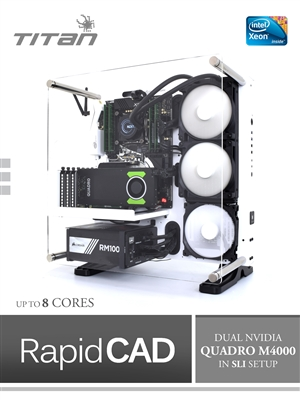 X199 RapidCAD - Intel Xeon E5 1600 V4 Broadwell-EP, CAD/CAM Workstation PC in Nvidia SLI Mode & up to 8 Cores