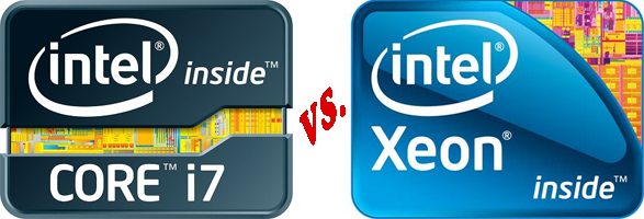 Whats the difference between an Intel Xeon and Intel i7 processor?