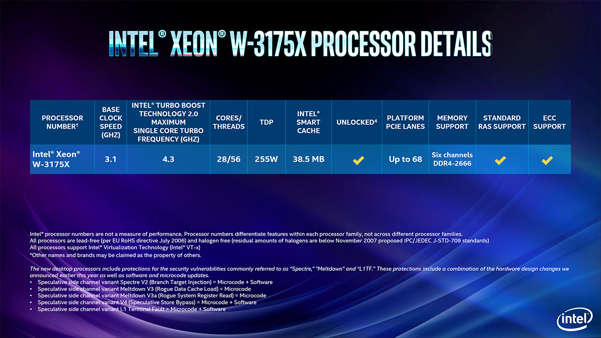 Intel Lays Down the Hammer with the Xeon W-3175X