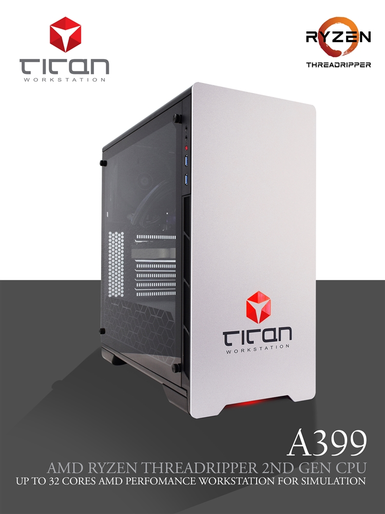 Titan A399 - AMD RYZEN Threadripper 3D Rendering Workstation PC up to 32  Cores