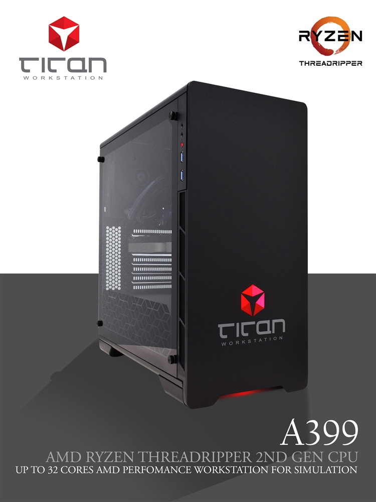 Titan A399 - AMD RYZEN Threadripper 3D Rendering Workstation PC up to 32  Cores