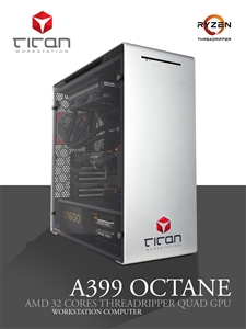 Titan A399 Octane - AMD RYZEN Threadripper Quad GPU Rendering Workstation PC up to 32 Cores