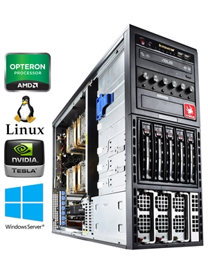 Titan A450-SYS - Quad CPUs AMD Opteron Abu Dhabi 6300 Series HPC Super Workstation PC up to 64 cores
