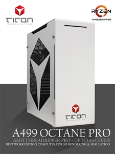 Titan A499 OCTANE PRO - AMD Ryzen Threadripper Pro Workstation PC up to 64 Cores