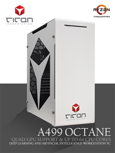 Titan A499 Octane - AMD Ryzen Threadripper 3rd Gen w/ Quad GPU Support - 3D Rendering Workstation PC up to 64 Cores