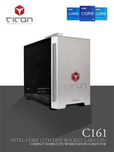 Titan C161 - Intel i7 & i9 Coffee Lake Series - CAD Compact - up to 8 CPU Cores Workstation PC