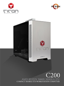 Titan C200 - AMD RYZEN 9 - Compact Workstation PC - up to 16 cores & 32 threads