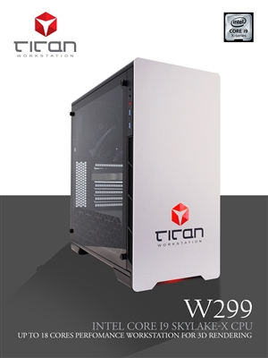 Titan W299 - Intel Core i9 Cascade Lake Series 3D / CAD Workstation PC up to 18 Cores