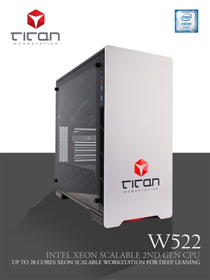Titan W522 - Intel Xeon Scalable Processors for Heavy Calculations Workstation PC up to 28 cores