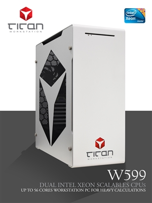 Titan W599 - Dual Intel Xeon Scalable Processors for Heavy Computing Workstation PC up to 56 cores