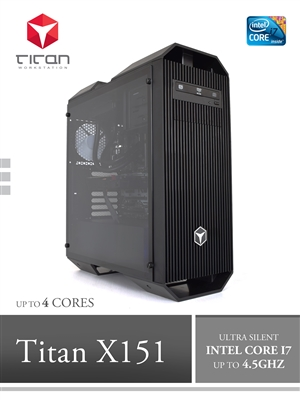 Titan X151 - Intel i7 Kaby Lake Series CAD Modeling Workstation PC up to 4 cores