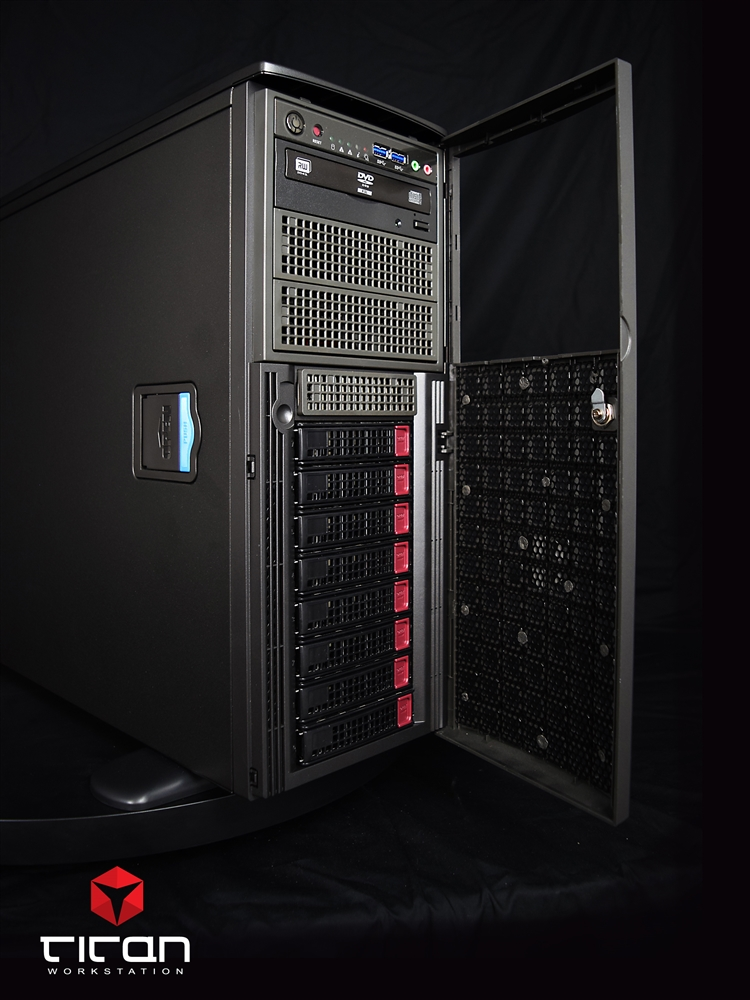 Titan X550 - Dual CPUs Intel Xeon Scalable Quad Tesla GPU Computing Server  up to 56 Cores