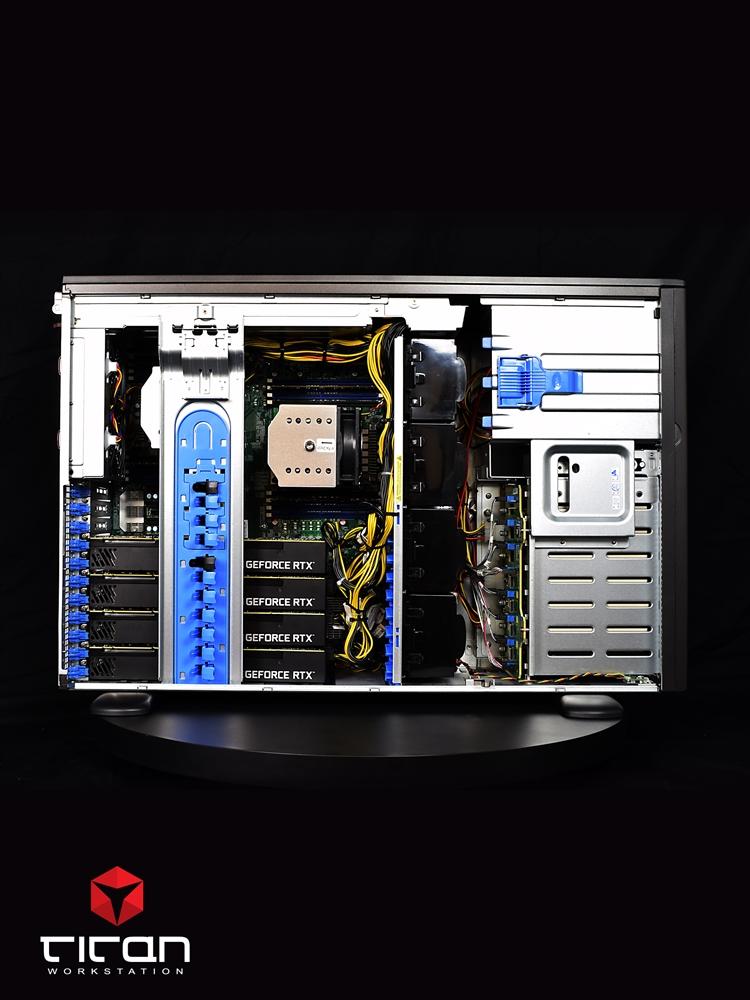 Titan X550 - Dual CPUs Intel Xeon Scalable Quad Tesla GPU Computing Server  up to 56 Cores